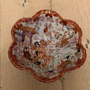 Vintage Japanese Hand Painted Porcelain Bowl